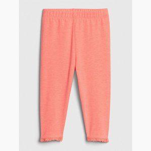 Gap Kids Girls Cropped Pants Neon Orange Size 5